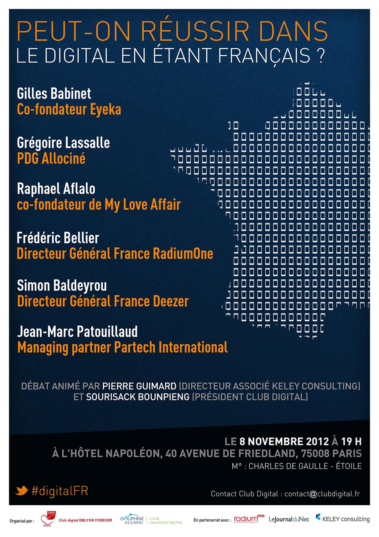 Conférence Club Digital : Peut-on réussir dans le digital en étant français ?