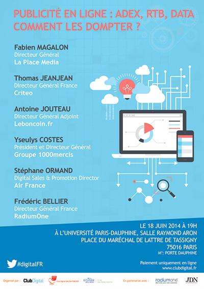 Conférence Club Digital : Publicité en ligne : AdEx, RTB, Data... Comment les dompter ?