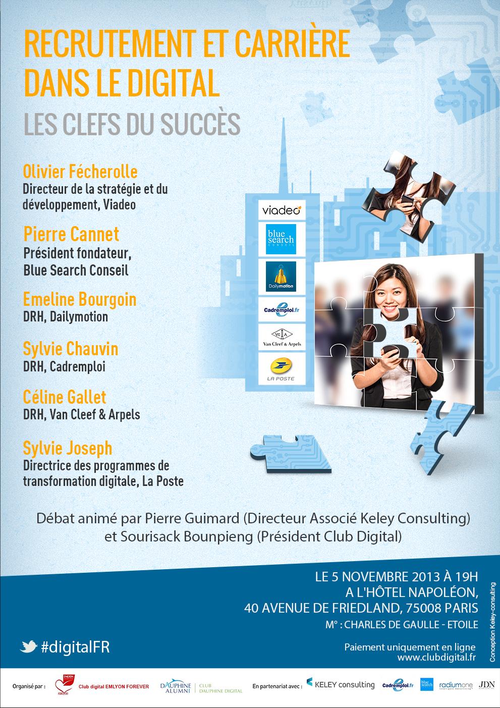 Conférence Club Digital : Recrutement et carrière dans le digital : Les clefs du succès